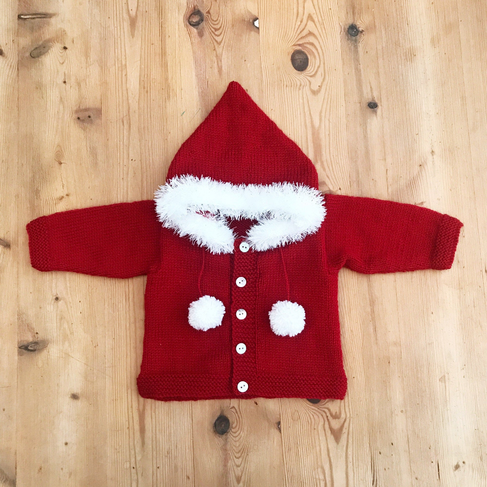 Millie and John Bespoke Bespoke Red Faux Fur Hoodie | Millie and John