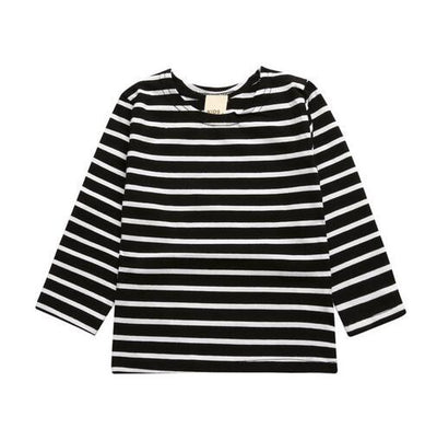 Millie and John Black & White Striped Top | Millie and John