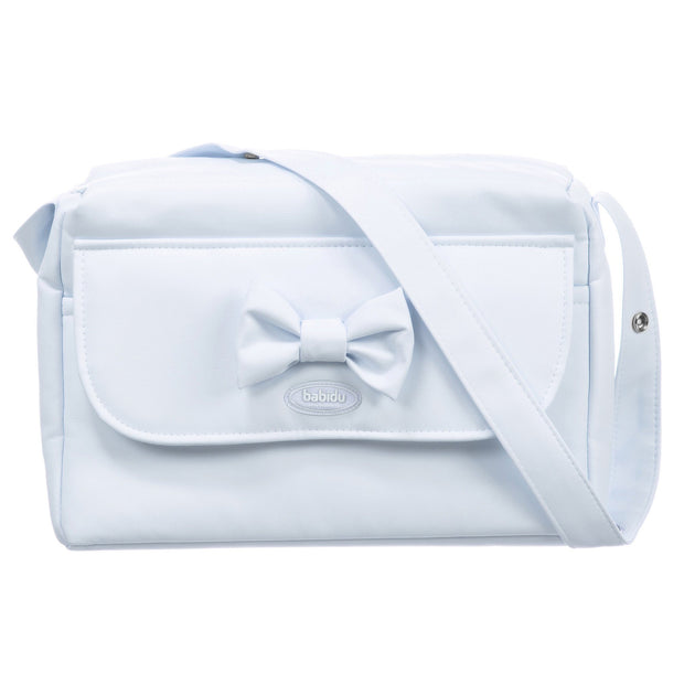 Babidu Blue Bow Changing Bag | Millie and John