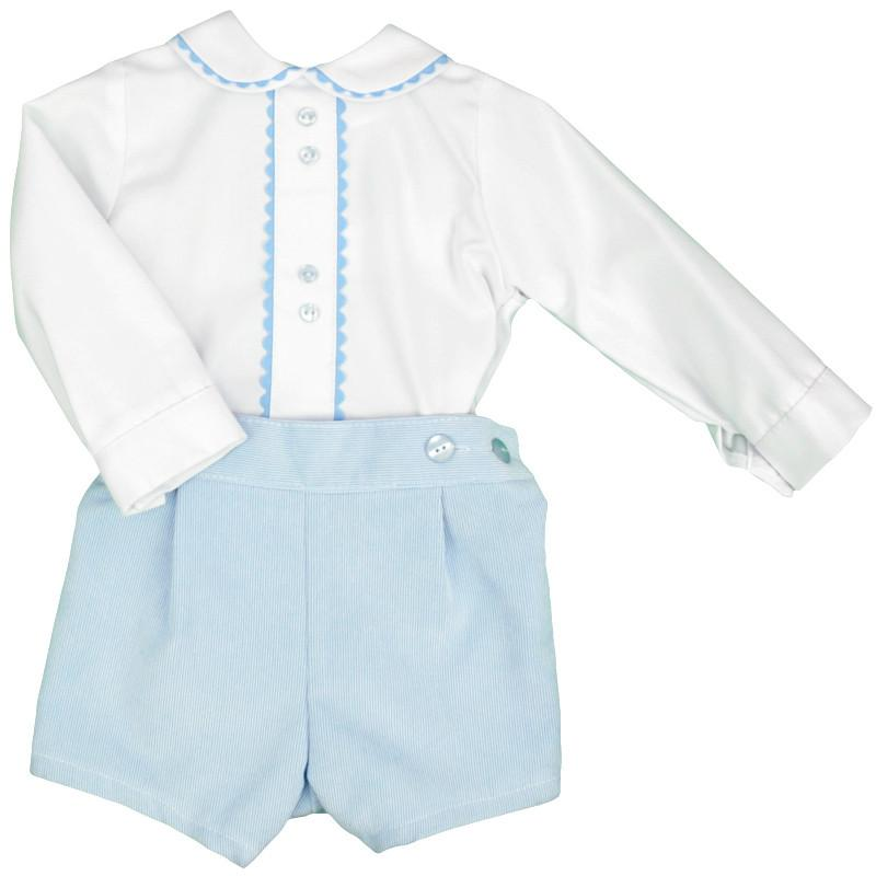 Blue Cord Traditional Shirt & Shorts