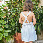 Babidu Blue Cotton Sundress | Millie and John
