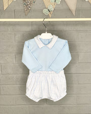 Rapife Blue Gingham Top & Jam Pants | Millie and John