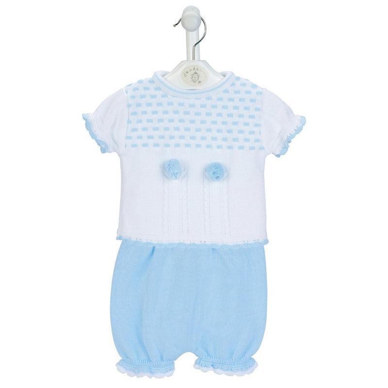 Dandelion Blue Knitted Top & Bloomers | Millie and John
