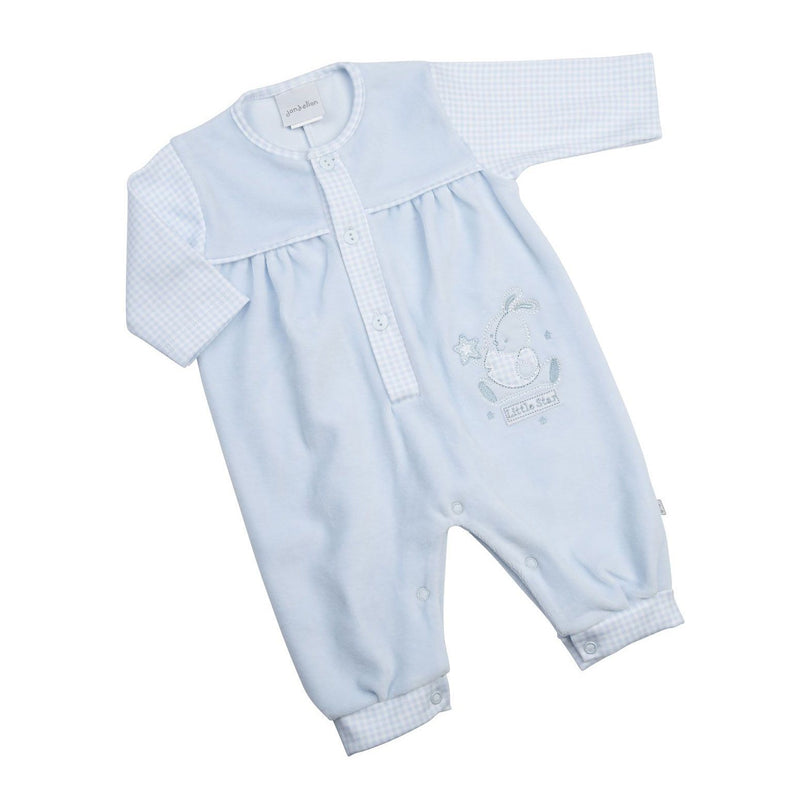 "Dandelion Blue ""Little Star"" Bunny Velour Romper 