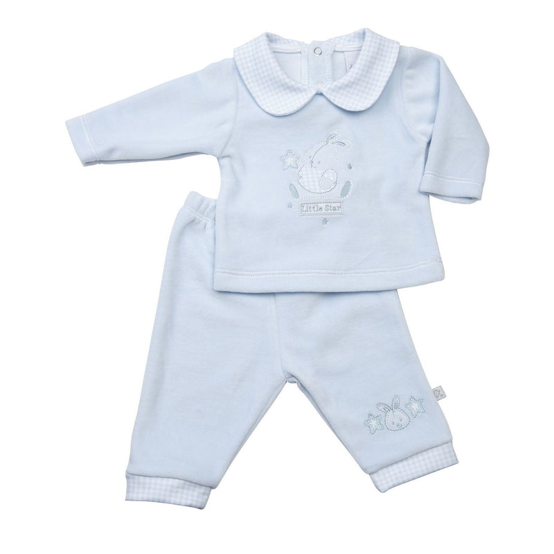 "Dandelion Blue ""Little Star"" Bunny Velour Top & Trousers 