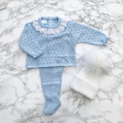 VB by Juliana Blue Pointelle Knitted Top and Leggings | Millie and John