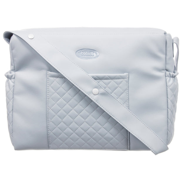 Babidu Blue Quilted Changing Bag | Millie and John