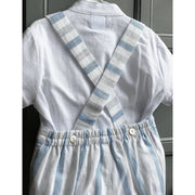 Granlei Blue Striped Shorts with Braces Set | Millie and John