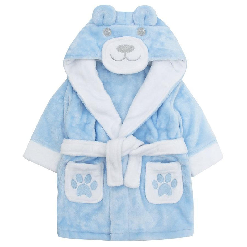 Baby Town Blue Teddy Dressing Gown | Millie and John