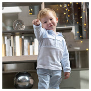 Tutto Piccolo Blue & White Polo Shirt and Trousers | Millie and John
