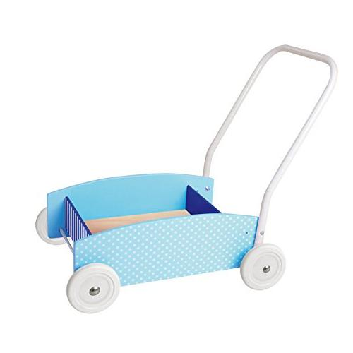 JaBaDaBaDo Blue Wooden Baby Walker Wagon | Millie and John