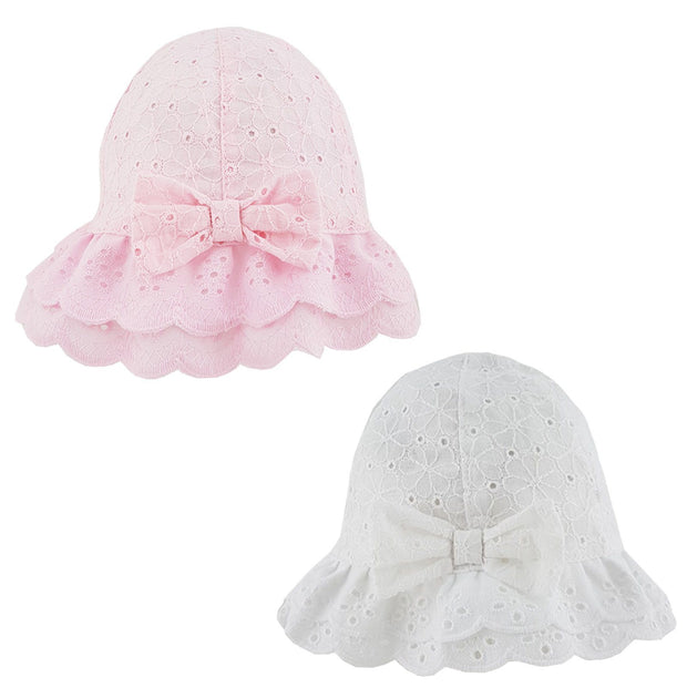 Pesci Baby Broderie Anglaise Sun Hat | Millie and John
