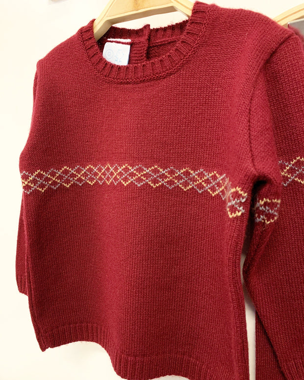 Granlei Burgundy Diamond Knit Tracksuit | Millie and John