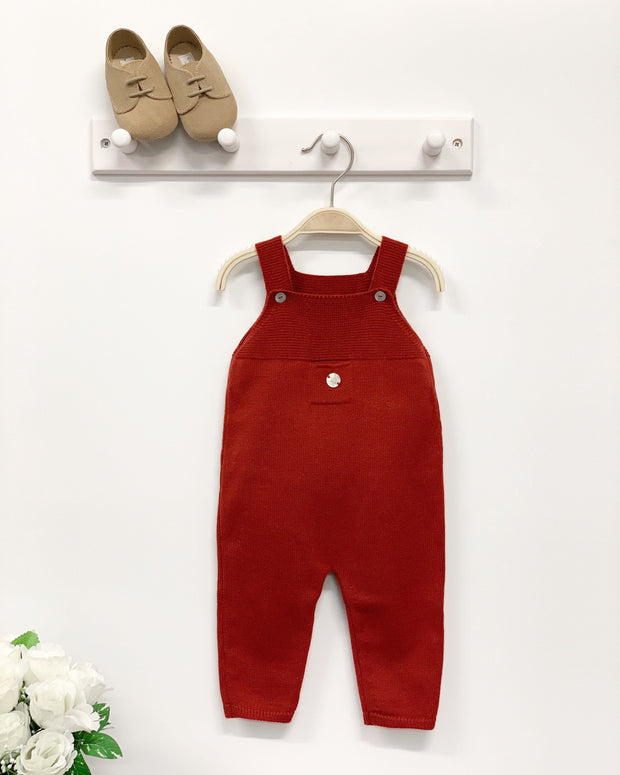 Granlei Burgundy Knitted Dungarees | Millie and John