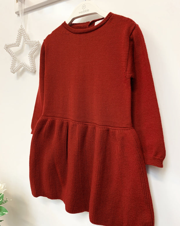 Wedoble Burgundy Wool Dress | Millie and John