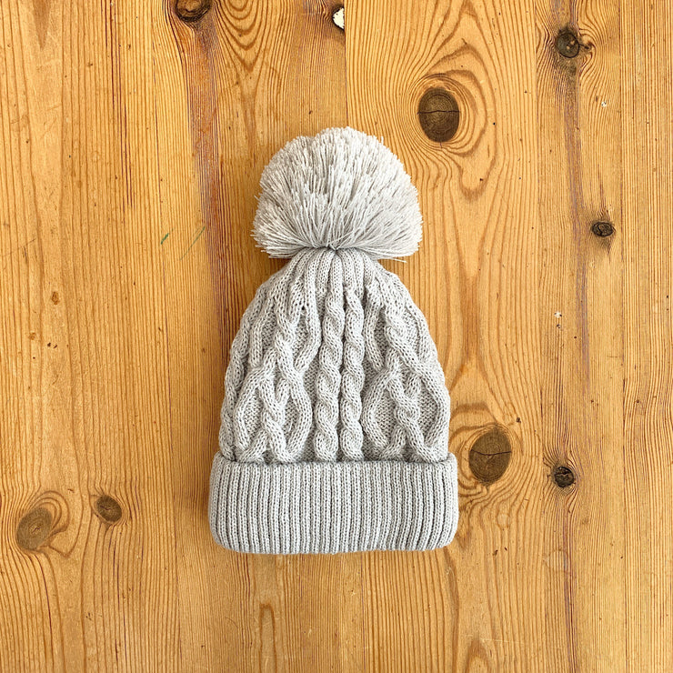 Little Nosh Cable Knit Pom Pom Hat | Millie and John