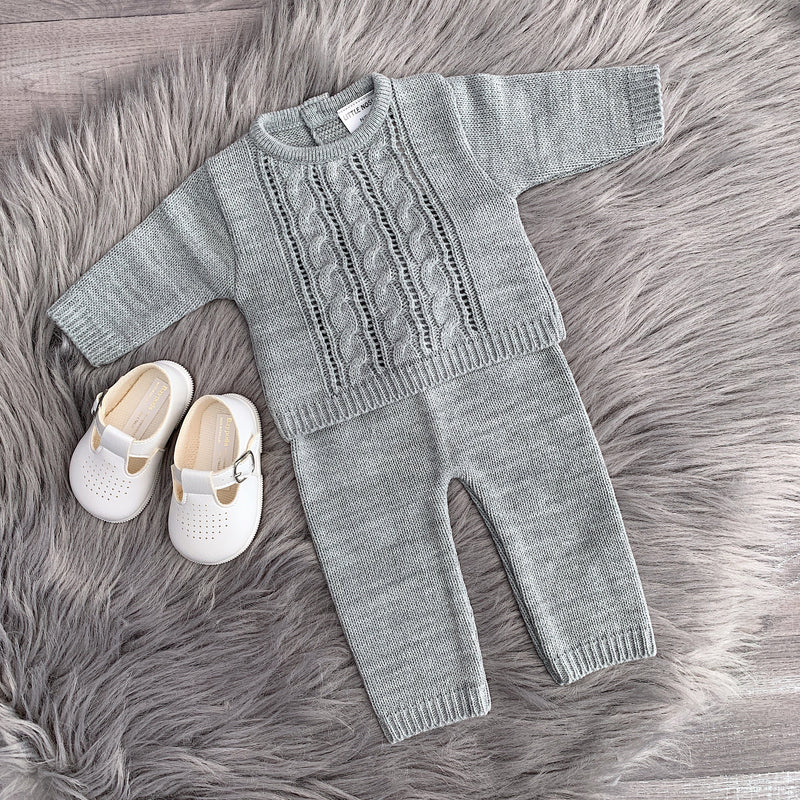 Little Nosh Cable Knit Tracksuit | Millie and John
