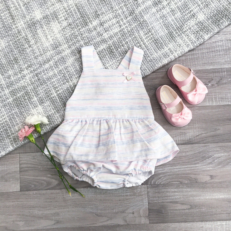 Granlei Candy Stripe Tutu Dungaree Romper | Millie and John