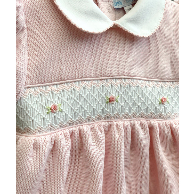 "Mini-la-Mode ""Classic Rose"" Pink Knit Smocked Dress 