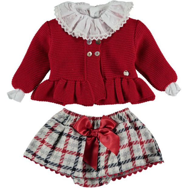 "Juliana ""Santina"" Cardigan, Blouse & Tartan Skirt 