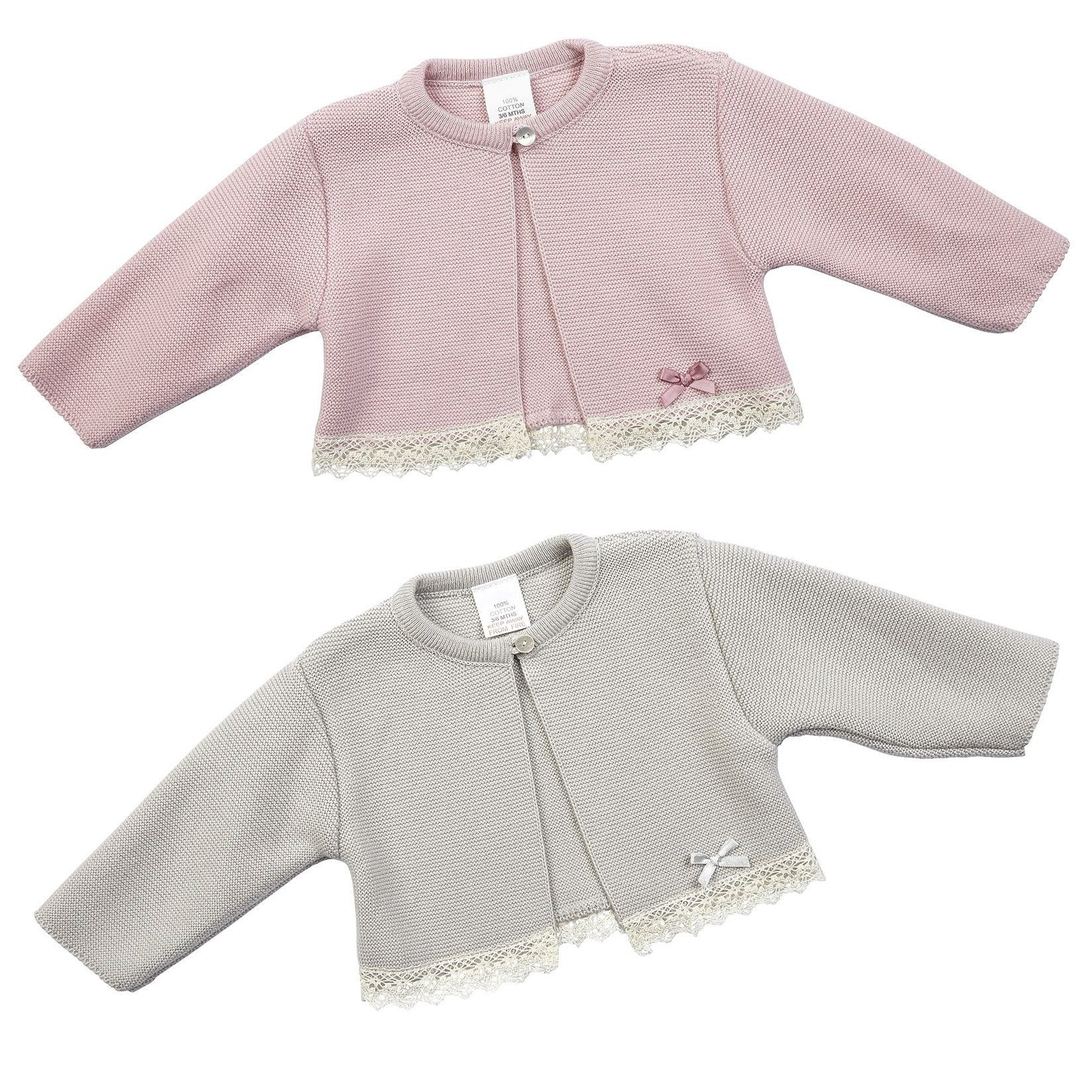 Dandelion Cotton Bolero with Lace Trim | Millie and John