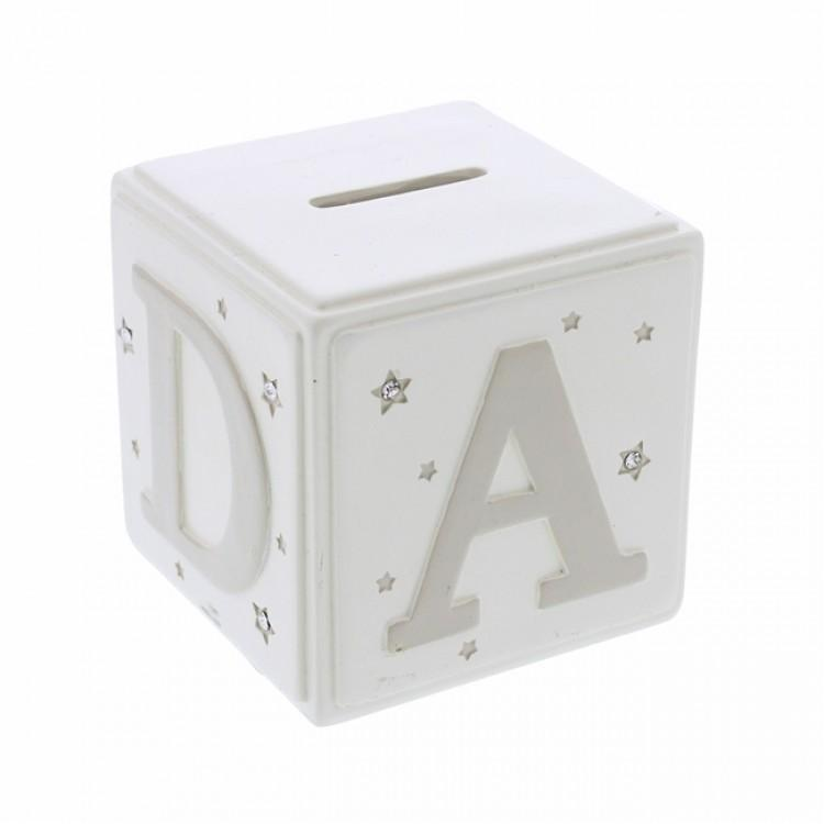 Bambino Cream ABC Money Box | Millie and John