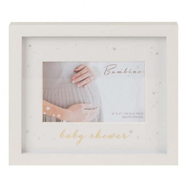 Bambino Cream Baby Shower Photo Frame | Millie and John