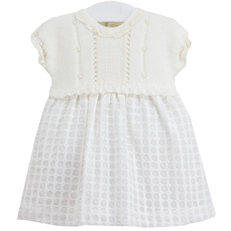 La Cigüeña Cream Half Knit Dress | Millie and John