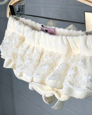 Phi Cream Lace Velvet Bloomers | Millie and John