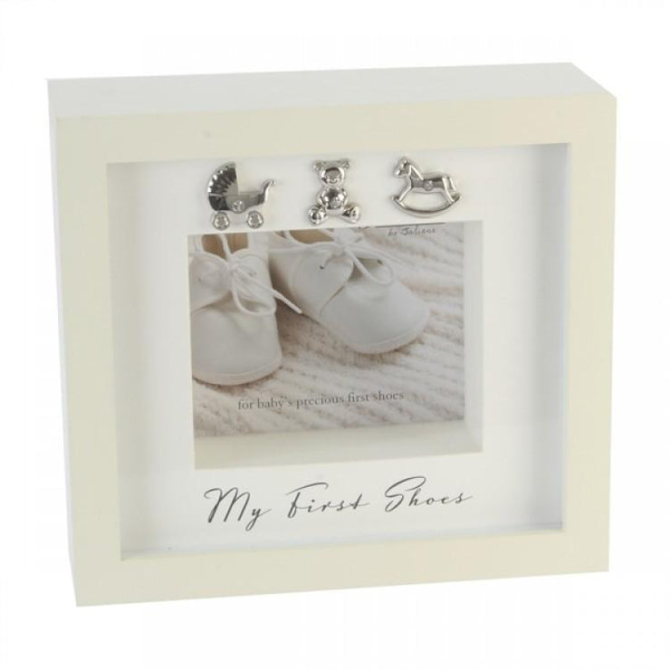 "Bambino Cream ""My First Shoes"" Box Frame 