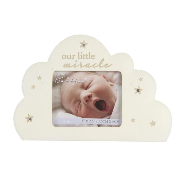 "Bambino Cream ""Our Little Miracle"" Cloud Photo Frame 