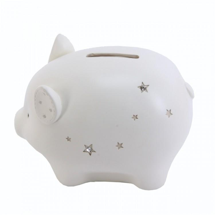 Bambino Cream Piggy Bank | Millie and John