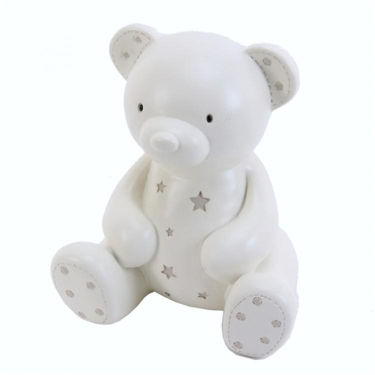 Bambino Cream Teddy Bear Money Box | Millie and John
