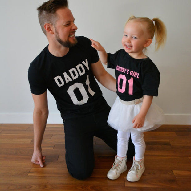 Millie and John Daddy's Girl Daddy and Daughter T-Shirts | Millie and John