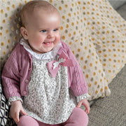 Tutto Piccolo Ditsy Leaf Print Blouse, Bloomers & Tights | Millie and John