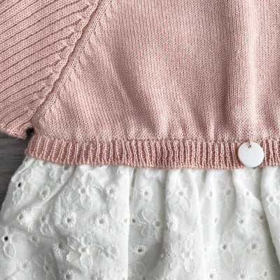 Wedoble Dusky Peach Half Knit Broderie Anglaise Romper | Millie and John