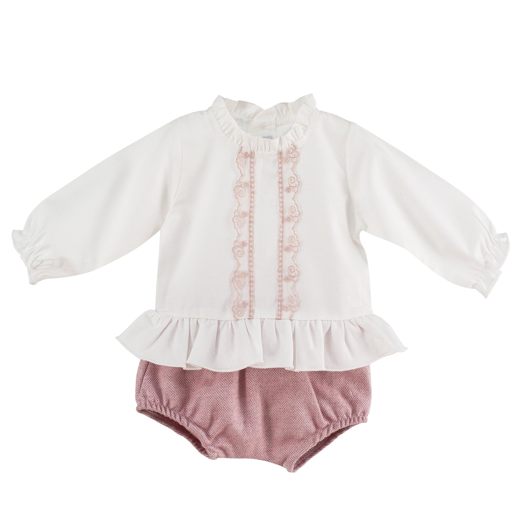 Dusky Pink Blouse & Bloomers