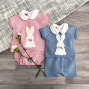 Dandelion Dusky Pink Bunny Top & Knickers | Millie and John