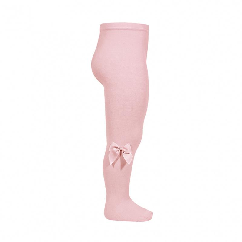 Condor Dusky Pink Grosgrain Bow Tights | Millie and John
