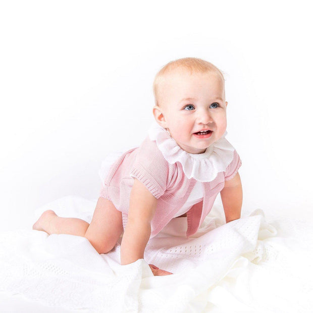 Dandelion Dusky Pink Knitted 3-Piece Set | Millie and John