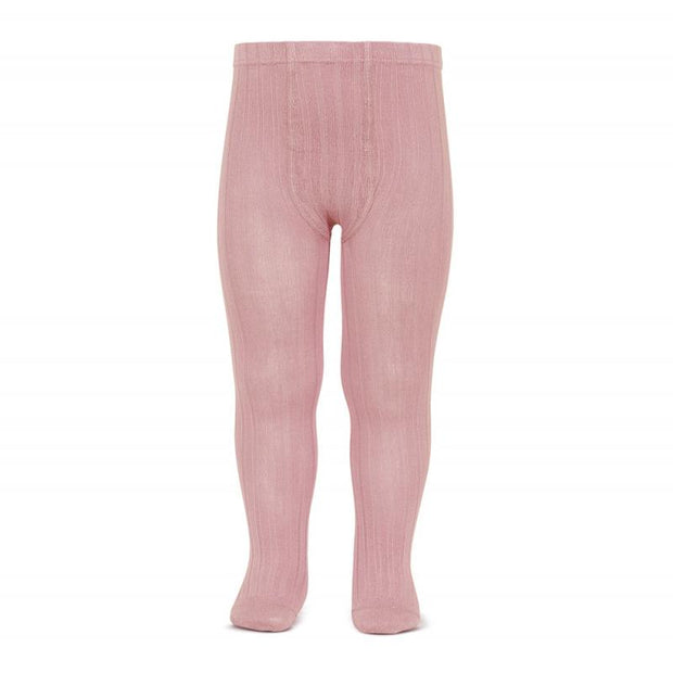Condor Dusky Pink Ribbed Tights | Millie and John