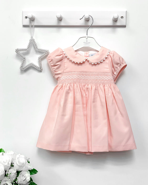 "Sardon ""Emilia"" Pink Smocked Dress 