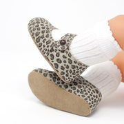 "Early Days ""Emma"" Leather Leopard Print Shoes 