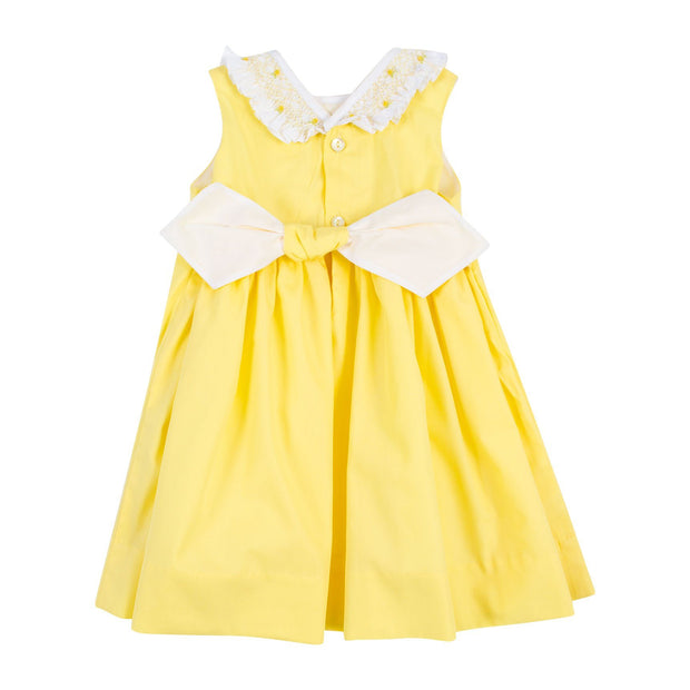 "Kidiwi ""Faustine"" Lemon Smocked Collar Dress 