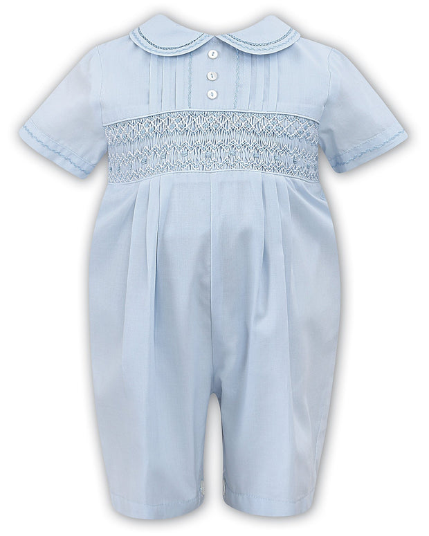"Sarah Louise ""Francis"" Blue Smocked Romper 
