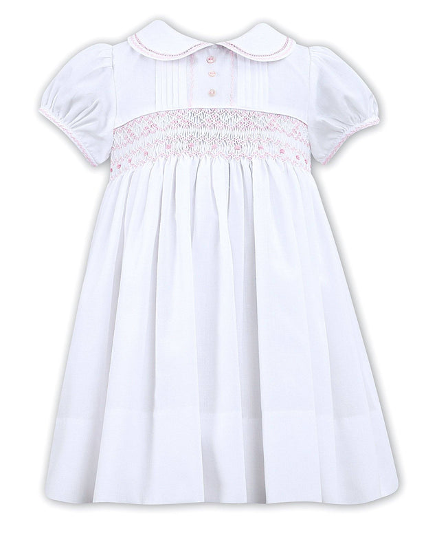 "Sarah Louise ""Freya"" Pink Smocked Dress 