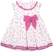 Baby-Ferr Fuchsia Plumeti Dot Floral Dress (6M to 36M) | Millie and John