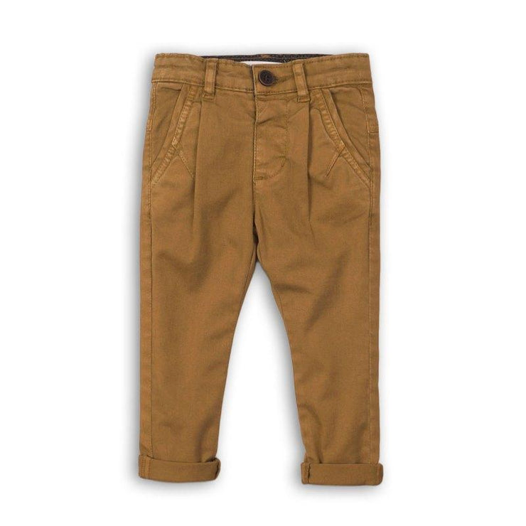 Minoti Gold Satin Twill Chino | Millie and John