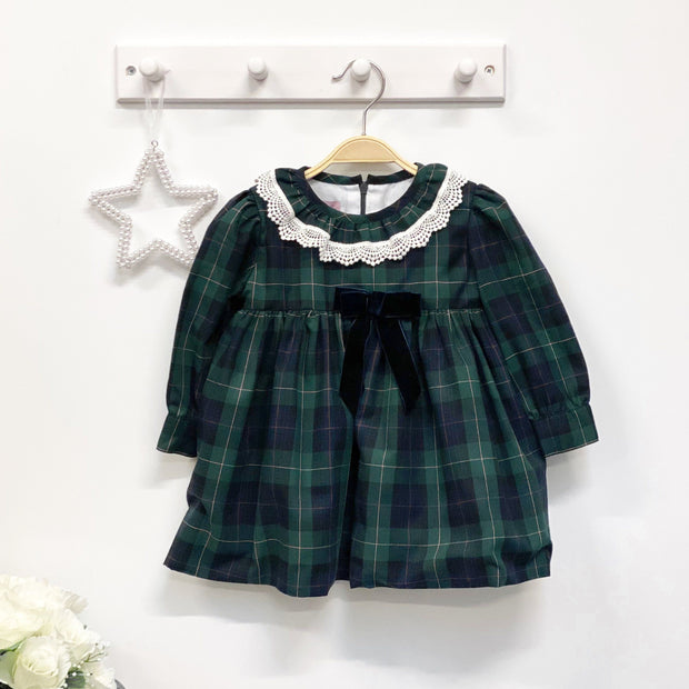 Phi Green Tartan Dress | Millie and John