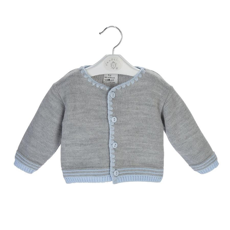 Dandelion Grey & Blue Cardigan | Millie and John